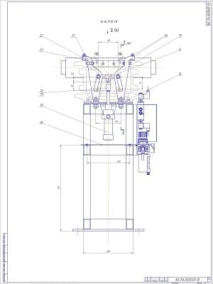 СБ вид Б-Б в масштабе 1:5 (формат А1) Лист 3