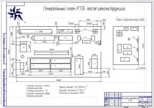 3.Генеральный план ремонтно-технологической базы после реконструкции с приведением плана нефтехозяйства с указанием розы ветров (формат А2)