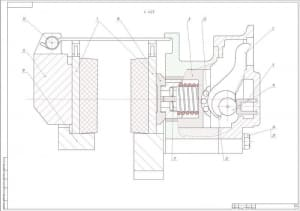3.Чертеж сборочный. Тормозной механизм (формат А1)