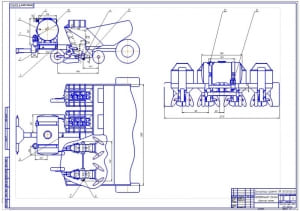 3.Сборочный чертеж картофельной сажалки (формат А1)
