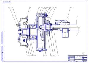3.Сборочный чертеж заднего левого колесного редуктора (формат А1)