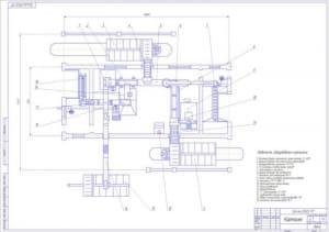 3.План кормоцеха (формат А1) с ведомостью оборудования
