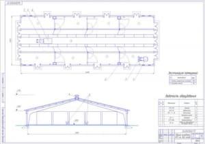 3.План здания для молодняка КРС на 360 голов (формат А1)