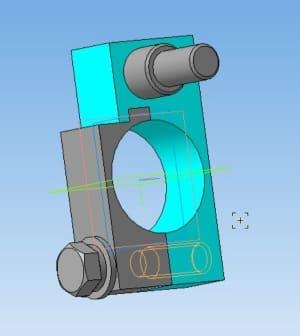35.Cборочная модель держателя в 3D