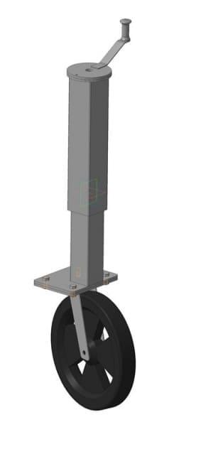 36.Чертеж СБ стойки с колесом в 3D формате