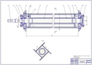 3.Сборочный чертеж дополнительного отражающего битера (формат А1)