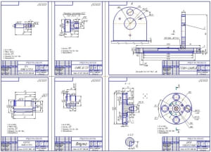 3.Деталировочный чертеж: ось фиксатора, фиксатор, диск поворотный, план-шайба, втулка, корпус фиксатора (формат А1)