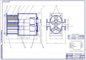 3.Роторный насос В3-ОРА-А2 в сборе (формат А1)