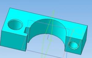 37.Модель кронштейна держателя в сборе в 3D