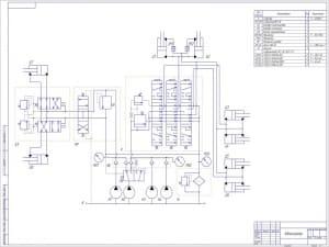 3.Гидравлическая схема со спецификацией А1
