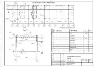 3.Схема расположения основных элементов каркаса с указанным перечнем элементов каркаса (формат А3)