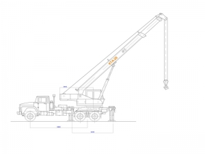 Чертежи крана модели КТА-28 на базе автомобиля КрАЗ-65101