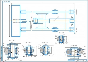 3.Рабочий чертеж навесного погрузочного оборудования - траверсы с крюковой подвеской (на формате А1)