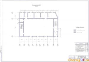 План на отметке 3500 производственного корпуса
