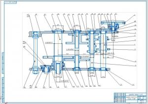 3.Сборочный чертеж коробки скоростей станка 2Н135 (А1)