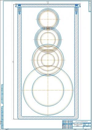 3.Чертеж свертки коробки скоростей круглошлифовального станка А1