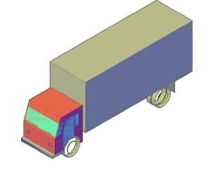 4.Чертеж общего вида автомобиля грузового Medium Cargo в 3D формате