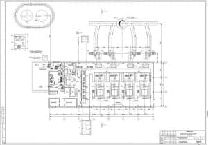 4.Чертеж плана котельной на отметке 0.000, спецификации оборудования, с указанием размеров (формат А1)