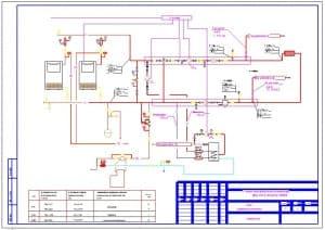 4.Чертеж тепловой схемы здания универсального назначения (формат А3)