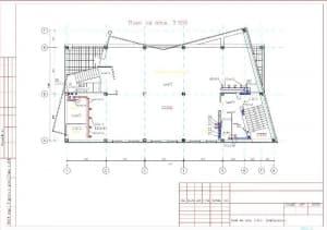 4.Чертеж плана вентиляции на отметке 3.300 с проставлением размерности (формат А3)