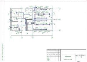 4.Чертеж плана вентиляции АЗС на отметке 0.000, с указанием основных параметров (формат А3)