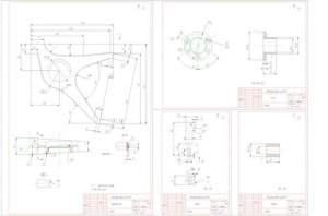 4.Чертеж деталировочный сборочных единиц подвески на косых рычагах (формат А1)