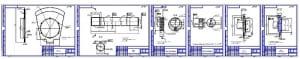 4.Набор рабочих чертежей конструкции: диск, вал, эксцентрик -2 шт, крышка подшипника – 2 шт (форматы соответственно А3,А3,А4,А4,А4,А4 – общая комплектация на формат А1)