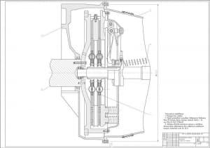 4.Установочный чертеж сцепления (формат А1)
