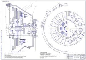 4.Чертеж сборочный. Фрикционный механизм сцепления автомобиля ЗИЛ (формат А1)