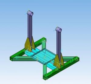 4.Рабочий чертеж 3D-модели стенда