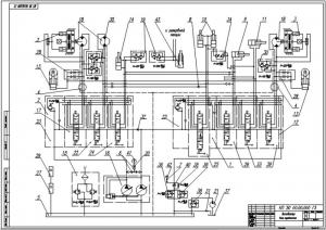 4.Гидравлическая схема экскаватора (А1)