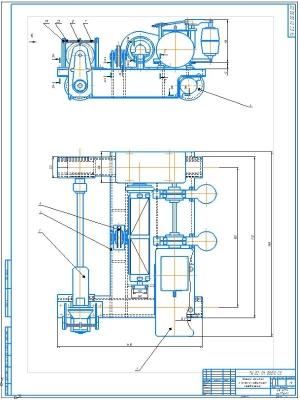 4.Рабочий чертеж тележки крановой с навесным редуктором передвижения в сборе А1