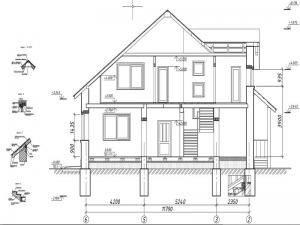 4.Разрез дома по осям 6-2