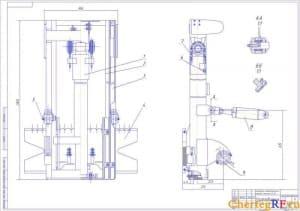 СБкаретки смещении электропогрузчика (формат А1)