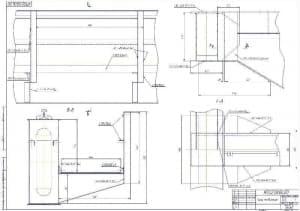 Чертеж узлов соединений с указанием ГОСТов и размеров (формат А1)