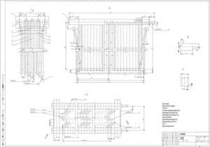 5.Сборочный чертеж пароперегревателя котла-утилизатора с техническими требованиями