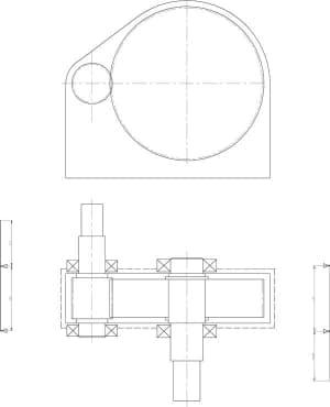 5.Чертеж эскизной компоновки редуктора (формат А1)