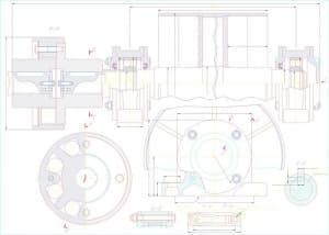 5.Сборочный чертеж приводного вала, с указанием размеров (формат А1)