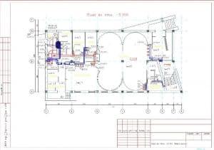 5.Чертеж плана вентиляции на отметке -3.300 с основными параметрами (формат А3)