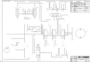 5.Чертеж схемы гидравлической контейнеровоза с приведенным перечнем наименований элементов (формат А1)