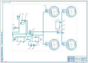 5.Пневмосистема привода тормозов скрепера в сборе А1