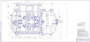 5.Чертеж сборочный компрессора центробежного в масштабе 1:2.5