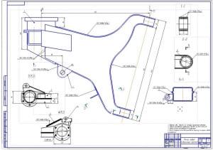 5.Сборочный чертеж левого рычага (формат А1)
