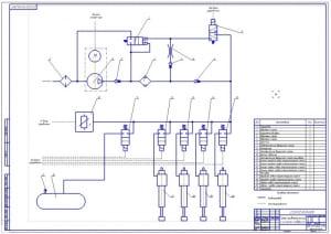 5.Принципиальная схема пневматической подвески (формат А1)