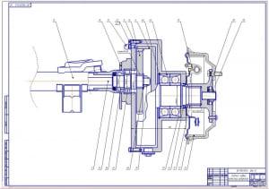 5.Задний левый колесный редуктор в сборе – 2ой лист (формат А1)