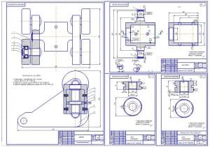 5.Деталировка конструкции: рабочие чертежи крестовина, гайка грузонесущая, гайка страхующая (формат А1)