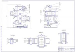 5.Головка харвестерная – захватное устройство для заготовки леса по сортиментной технологии, сборочный чертеж А1
