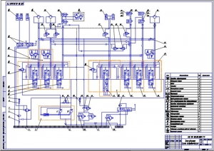 5.Гидравлическая схема (А1) с обозначением позиций