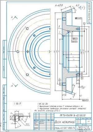 5.Деталь диск нажимной А3