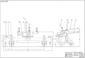 5.Сборочный чертеж установки щетки (формат А1)